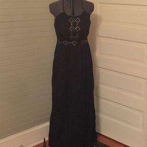 Boston Proper Beaded Maxi Halter Dress Size 8